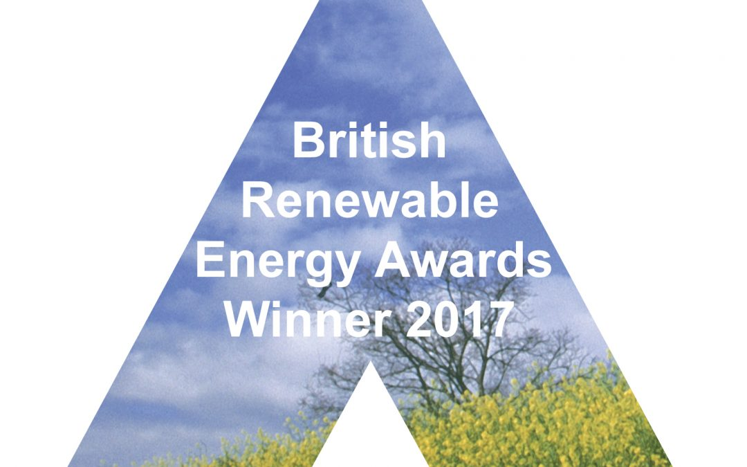 Ceiba Renewables Ltd win Installer Award in the British Renewable Energy Awards 2017