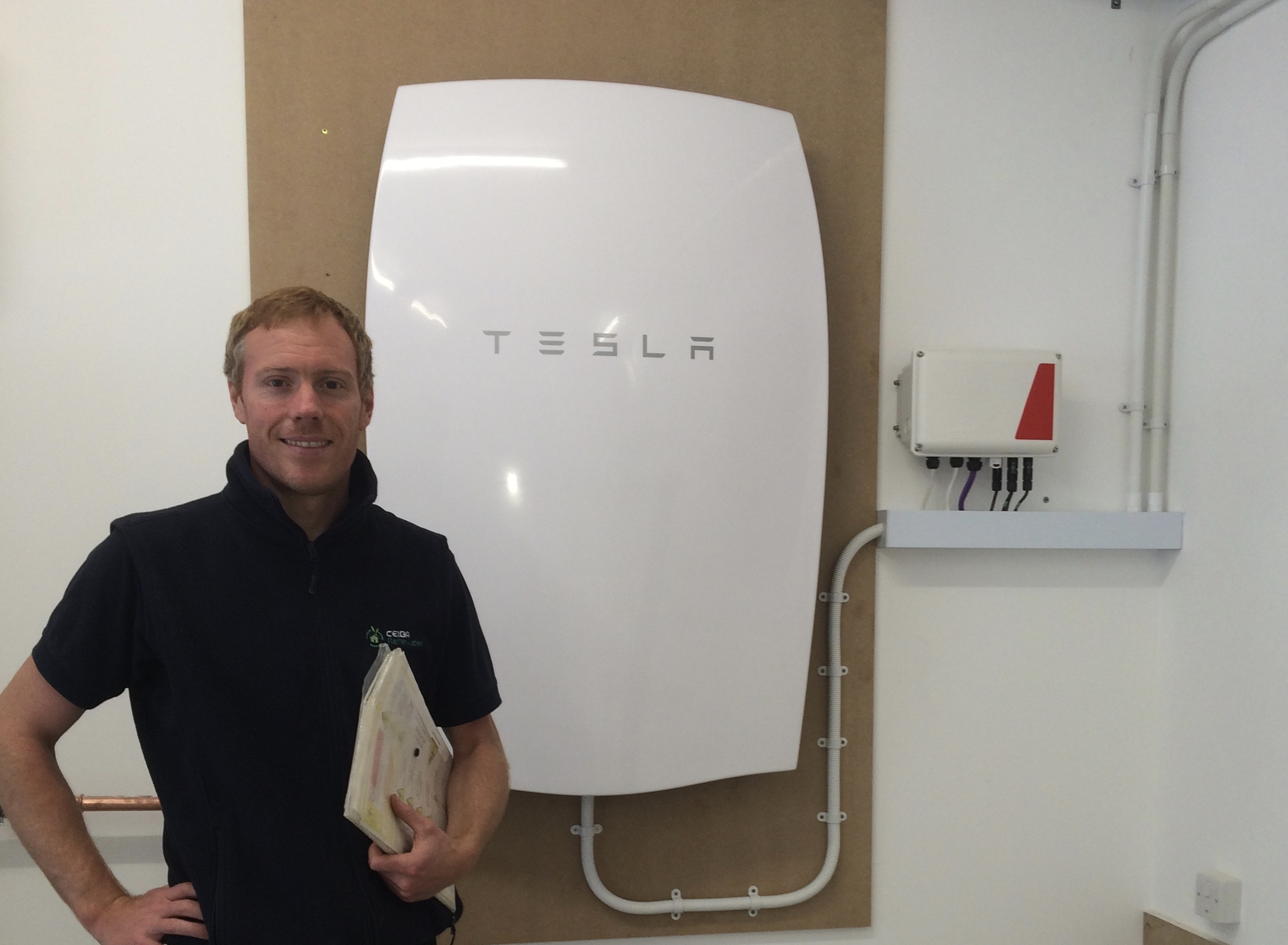 First Tesla Powerwall Installation Complete
